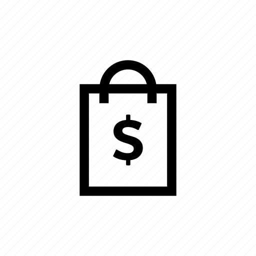 bag, dollar, handbag, money, pouch, shipping, shopping icon