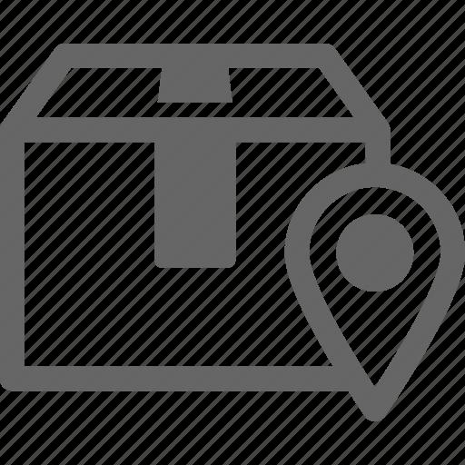box, delivery, exact, home, location, pin, precise icon