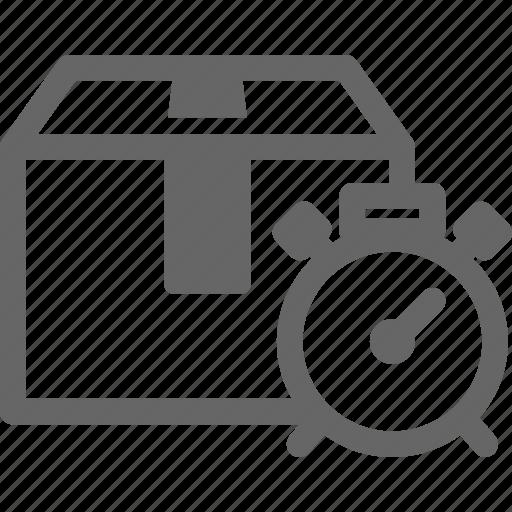 alert, box, clock, delivery, precise, time icon