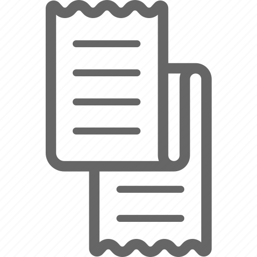 bill, delivery, long, paper, receipt icon