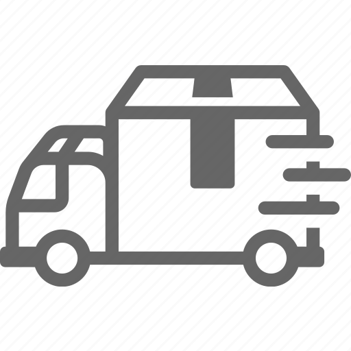 car, cargo, delivery, fast, sent, truck icon