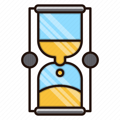 delivery, hourglass, logistics, processing, time icon