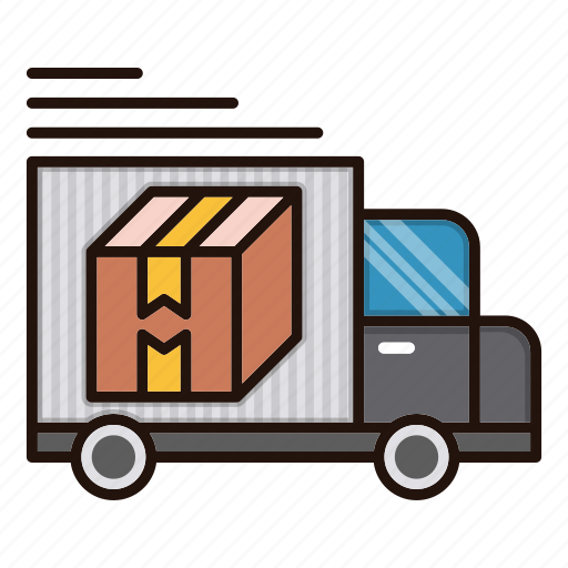 delivery, logistics, shipping, truck, van icon