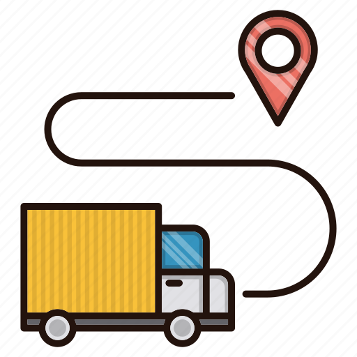 delivery, gps, location, logistics, truck icon