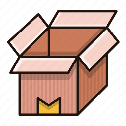 box, delivery, logistics, open, packaging icon