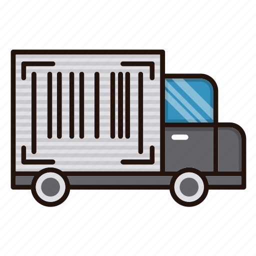 delivery, logistics, number, tracking, truck icon