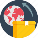 courier, delivery, global, international, package, shipping