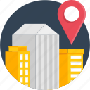 building, city, delivery, location, office icon