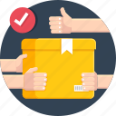 box, courier, delivery, hand, shipping icon
