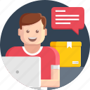 courier, delivery, help, online, order, shipping, shopping icon