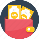 dollar, money, price, save, savings, wallet icon