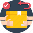 courier, delivery, package, parcel, return, shipping icon