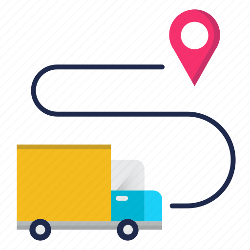 delivery, gpd, location, pointer, transport icon