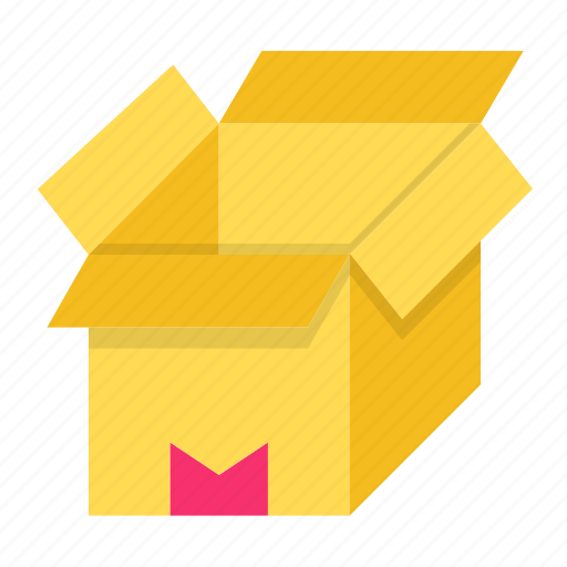 box, delivery, open, packaging icon
