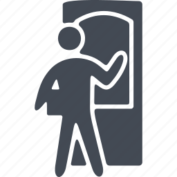 box, delivery, human, sending parcels icon