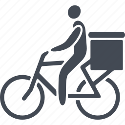bike, box, delivery, shipping, transport icon