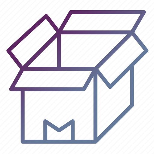 box, delivery, open, package, packaging, shipping icon