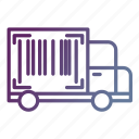 delivery, number, tracking, transportation, truck icon