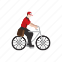 bike, courier, delivery, job, package, people, work icon