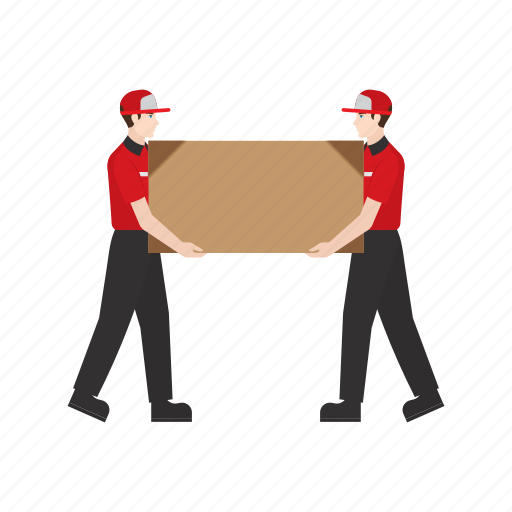big, courier, delivery, job, package, people, work icon