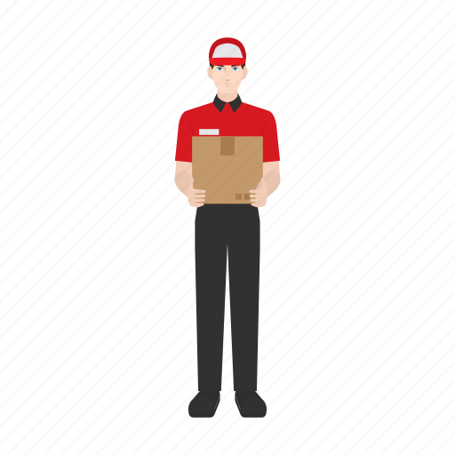 courier, delivery, job, occupation, package, people, work icon