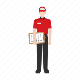 checklist, courier, delivery, job, package, people, work icon