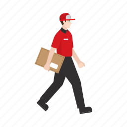 courier, delivery, document, job, package, people, work icon
