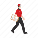 check list, courier, delivery, job, occupation, people, work icon