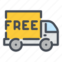 logistics, track, transportation, delivery, vehicle, shipping, van icon