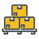 box, delivery, package, palette, shipping, storage icon