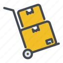 box, delivery, dolly, logistics, package, parcel, shipping icon