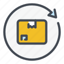box, delivery, logistics, package, parcel, shipping, update icon