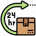 deliver, hours, service, time icon