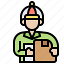 delivery, mailman, postage, postman, service icon