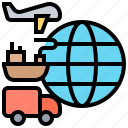 export, global, international, logistic, shipping icon