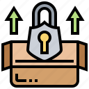 lock, package, privacy, protection, safety icon