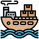delivery, export, freight, logistics, ship icon