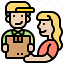 courier, delivery, receive, service, shipment icon