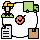 processing, progress, delivery, order, track icon