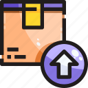 arrow up, box, delivery, logistic, product, shipping icon