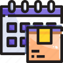 calendar, delivery, management, planning, product, shipping icon
