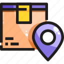 box, delivery, location, placeholder, product, shipping icon