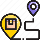 delivery, destination, location, map, shipping icon