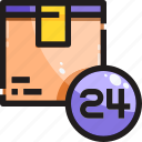 24hr, delivery, product, shipping, time icon