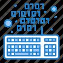 coding, keyboard, keypad, scripting icon
