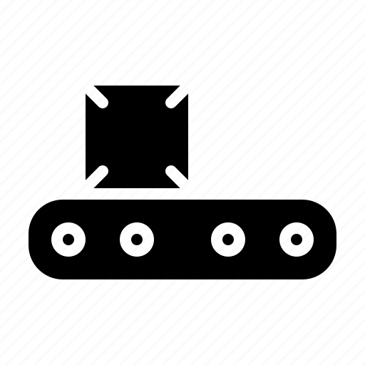 carry, conveyor, factory, goods, logistics icon