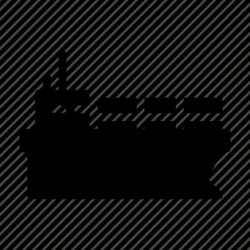 carry, factory, goods, logistics, sea, ship icon