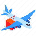 cargo, plane, transportation, delivery