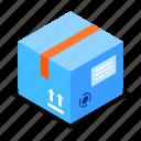 parcel, cardboard, delivery, service icon