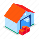 storage, warehouse, logistics, boxes icon